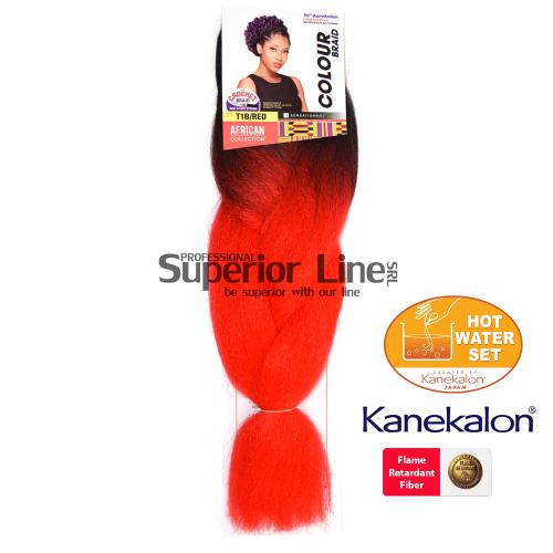 Sensationnel Jumbo Braid Kanekalon haj (szín T1B/RED)