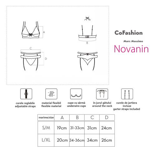 CoFashion Novanin set sexy underwear 2 pieces