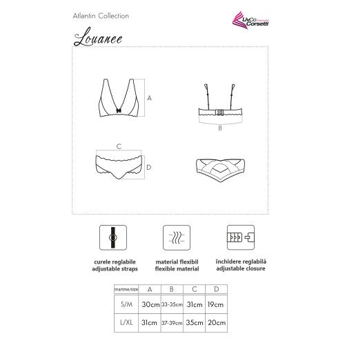 LivCo Corsetti Louanee set sexy underwear 2 pieces