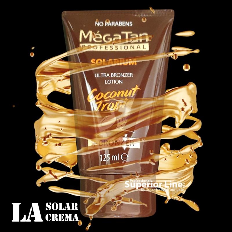 MegaTan Coconut Tropic solar tanning cream + bronzer 125 ml