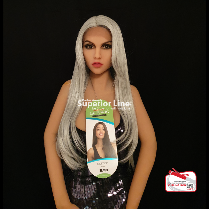 Impression Destiny Front Lace wig synthetic hair (color SILVER)