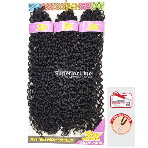 3X Cherish Bulk Bohemian Crochet braids extensions (color 1)
